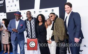 Cedric the Entertainer, Tracy Morgan, Taylor Mosby, Dante Hoagland, Allen Maldonado and Ryan Gaul at the 2017 Turner Upfront event...