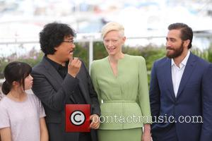 Bong Joon-ho, Tilda Swinton, Jake Gyllenhaal and Seo-hyeon Ahn at Cannes Film Festival