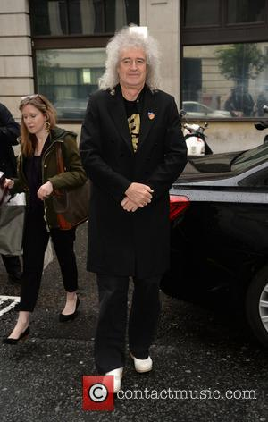 Brian May arrives at BBC Radio 2 - London, United Kingdom - Friday 19th May 2017