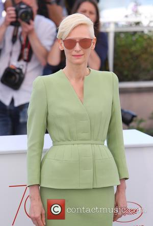 Tilda Swinton at the 70th annual Cannes Film Festival  Photocall for 'Okja' at Cannes Film Festival - Cannes, France...