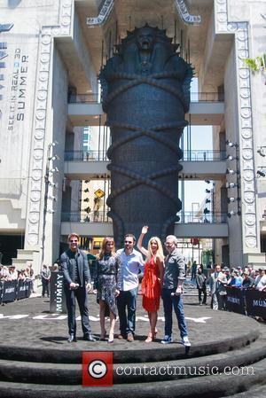 Tom Cruise, Sofia Boutella, Jake Johnson, Annabelle Wallis and Alex Kurtzman