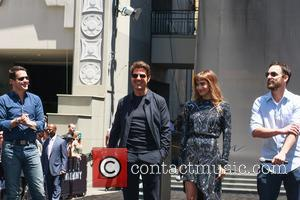 Tom Cruise, Sofia Boutella and Jake Johnson