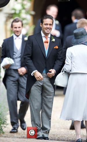 Spencer Matthews and Donna Air at the wedding of Pippa Middleton and James Matthews held at St Mark's Church -...