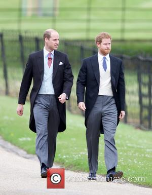 Prince William and Prince Harry at the wedding of Pippa Middleton and James Matthews held at St Mark's Church -...