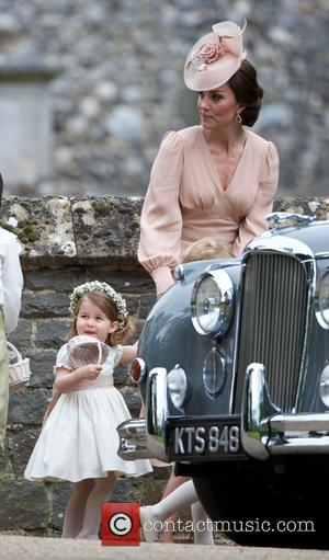 Duchess of Cambridge at the wedding of Pippa Middleton and James Matthews held at St Mark's Church - Englefield, United...