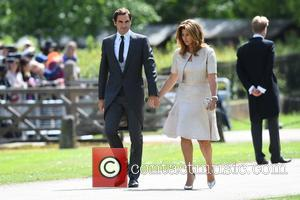 Roger Federer at the wedding of Pippa Middleton and James Matthews held at St Mark's Church - Englefield, United Kingdom...