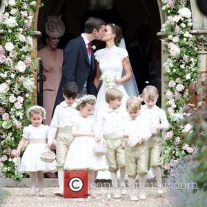 Pippa Middleton and James Matthews at their wedding at St Mark's Church, Englefield. Attended by Catherine Middleton, Prince William and...