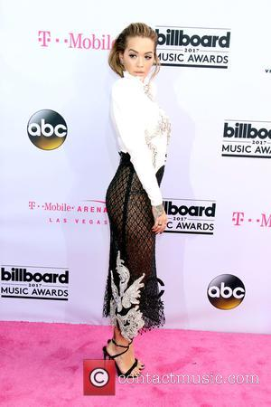 Rita Ora on the red carpet at the 2017 Billboard Music Awards held at T-Mobile Arena. Drake walked away as...