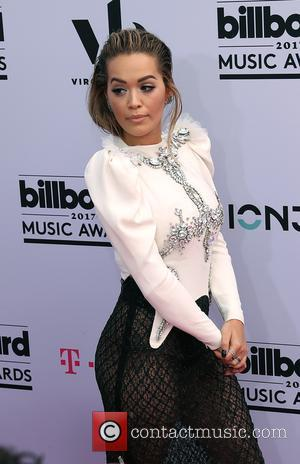 Rita Ora on the red carpet at the 2017 Billboard Music Awards Arrivals held at T-Mobile Arena. Drake walked away...