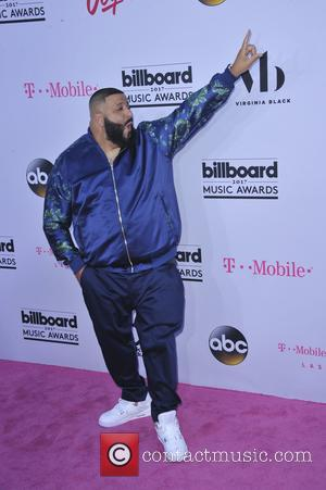DJ Khaled on the red carpet at the 2017 Billboard Music Awards held at T-Mobile Arena. Drake walked away as...