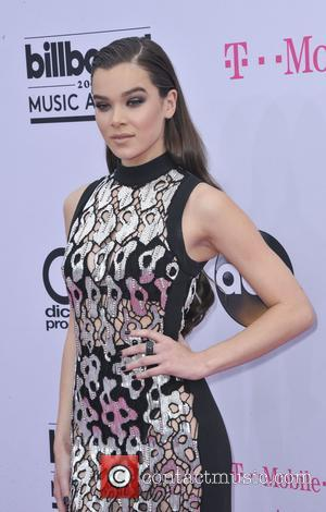 Hailee Steinfeld on the red carpet at the 2017 Billboard Music Awards held at T-Mobile Arena. Drake walked away as...