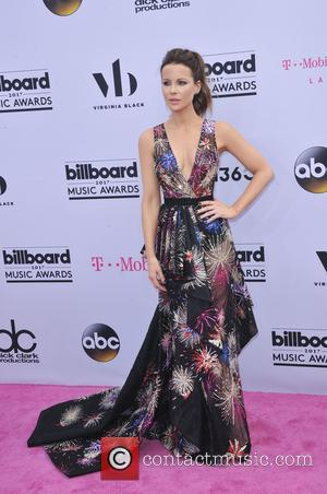 Kate Beckinsale on the red carpet at the 2017 Billboard Music Awards held at T-Mobile Arena. Drake walked away as...