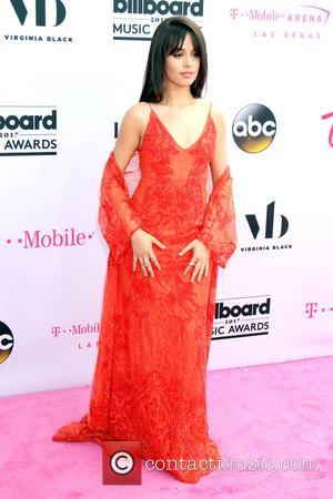 Camila Cabello on the red carpet at the 2017 Billboard Music Awards held at T-Mobile Arena. Drake walked away as...