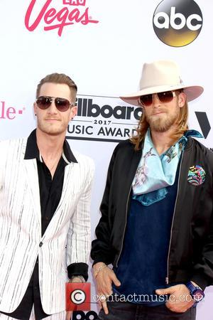 Florida Georgia Line on the red carpet at the 2017 Billboard Music Awards held at T-Mobile Arena. Drake walked away...