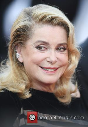 Catherine Deneuve attending the premiere of 'The Killing of a Sacred Deer' during the 70th annual Cannes Film Festival at...