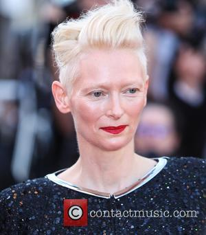 Tilda Swinton at the 70th Cannes Film Festival 70th Anniversary Soiree held at Palais des Festivals - Cannes, United Kingdom...
