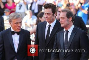 Christopher Waltz, Benicio Del Toro and Vincent Lindon