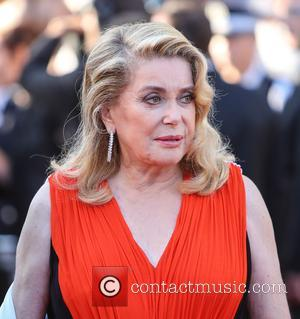 Catherine Deneuve, Roman Polanski and Pedro Almodovar at the 70th Cannes Film Festival 70th Anniversary Soiree held at Palais des...
