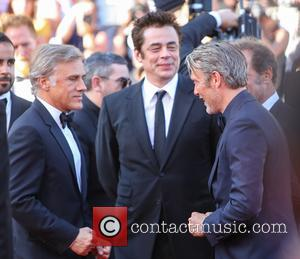 Christopher Waltz and Benicio Del Toro at the 70th Cannes Film Festival 70th Anniversary Soiree held at Palais des Festivals...
