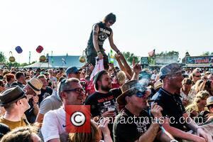 Crowd shots at Bearded Theory on the second day held at Catton Park - Lichfield, United Kingdom - Friday 26th...