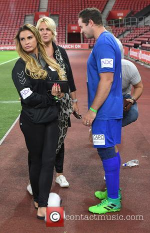 Katie Price seen at Capital FM's Celebrity Soccer Charity Match, supporting Global's Make Some Noise, held at the home of...