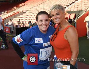 Sam Bailey, Kerry Katona and Dan Osborne seen at Capital FM's Celebrity Soccer Charity Match, supporting Global's Make Some Noise,...