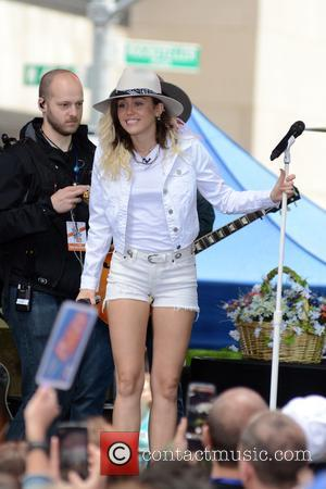 Miley Cyrus at Rockefeller Plaza