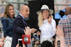Miley Cyrus is the latest pop star to perform live on NBC's 'Today' show - Rockefeller Plaza, New York, New...