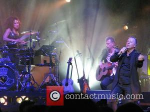 Cherisse Osei, Jim Kerr and Ged Grimes