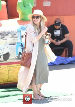 Hilary Duff taking her son, Luca Comrie, to the Studio City Farmers' Market - Los Angeles, California, United States -...