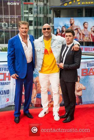 David Hasselhoff, Dwayne Johnson and Zac Efron