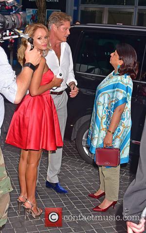 Hayley Roberts, David Hasselhoff and Madhu Chopra