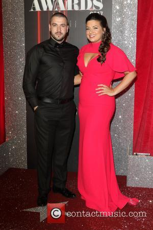 Shayne Ward and Sophie Austin at The 2017 British Soap Awards held at The Lowry - Salford Quays, Manchester, United...