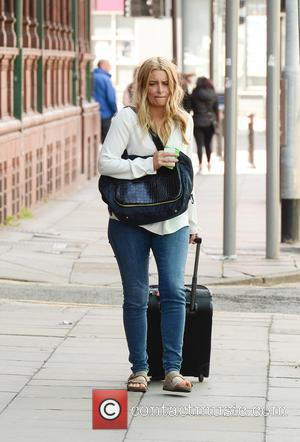 Emma Atkins and various other stars from the world of soap spotted the morning after the British Soap Awards walking...