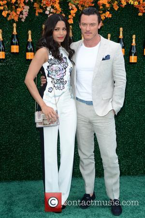 Freida Pinto and Luke Evans at the Tenth Annual Veuve Clicquot Polo Classic held at Liberty State Park - Jersey...