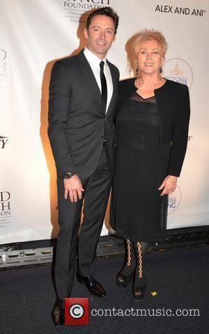 Hugh Jackman and Debora-Lee Furness Jackman at the David Lynch Foundation event A National Night Of Laughter And Song. Held...