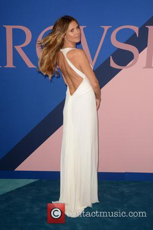 Heidi Klum at the 2017 CFDA  Awards held at Hammerstein Ballroom - New York, United States - Tuesday 6th...