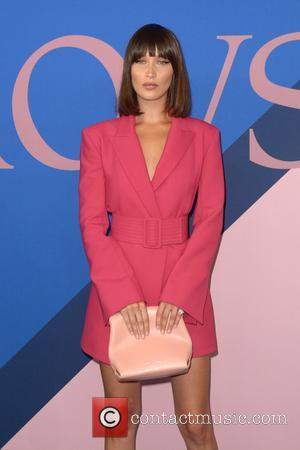 Bella Hadid at the 2017 CFDA  Awards held at Hammerstein Ballroom - New York, United States - Tuesday 6th...
