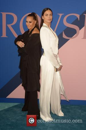 Donna Karan and Adriana Lima at the 2017 CFDA  Awards held at Hammerstein Ballroom - New York, United States...