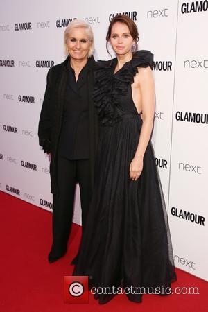 Maria Grazia Chiuri and Felicity Jones