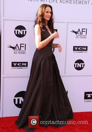 Andie MacDowell at the American Film Institute's Lifetime Achievement Awarded to Diane Keaton. The event was held at the Dolby...