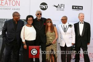 Morgan Freeman and Work Team