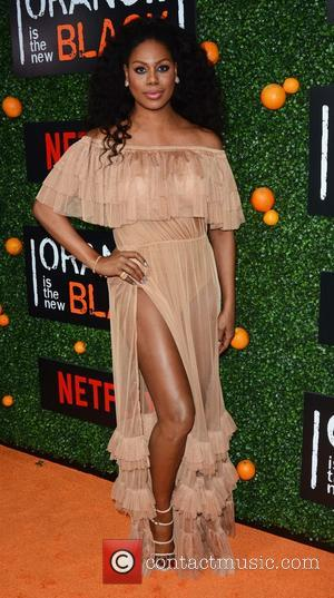 Laverne Cox at the premiere of the fifth season of Orange is The New Black - New York, United States...