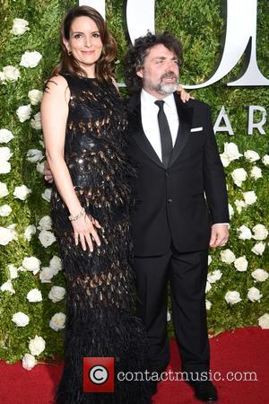 Tina Fey and Jeff Richmond on the red carpet at the 71st Tony Awards held Radio City Music Hall -...