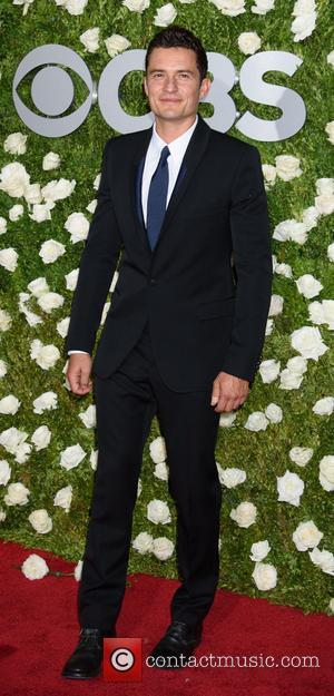 Orlando Bloom on the red carpet at the 2017 Tony Awards held Radio City Music Hall - New York, United...