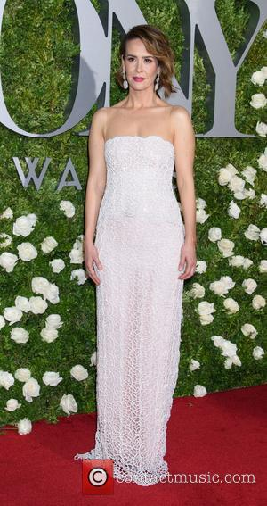 Sarah Paulson on the red carpet at the 2017 Tony Awards held Radio City Music Hall - New York, United...