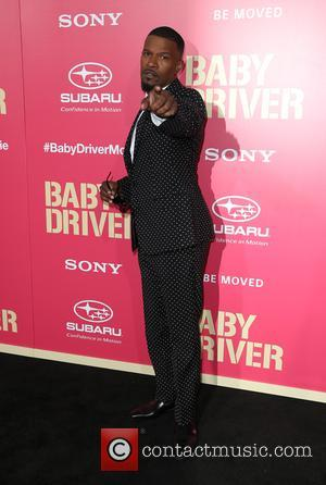 Jaime Foxx with Corinne Foxx at the L.A. premiere of Sony Pictures' 'Baby Driver' held at Ace Hotel - Los...