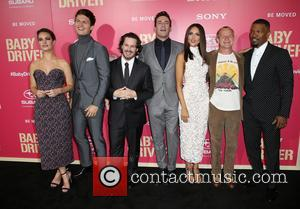Lily James, Ansel Elgort, Edgar Wright, Jon Hamm, Eiza Gonzalez, Jaime Foxx and Flea