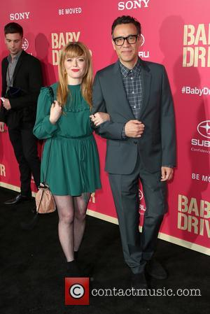 Natasha Lyonne and Fred Amisen at the L.A. premiere of Sony Pictures' 'Baby Driver' held at Ace Hotel - Los...