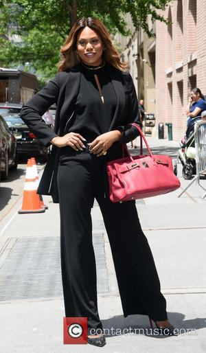 Orange Is The New Black star Laverne Cox enters The View Studios - New York, United States - Friday 16th...